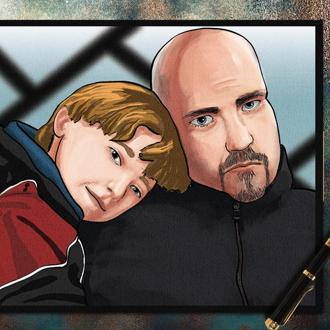 Portrait of Dad and Son