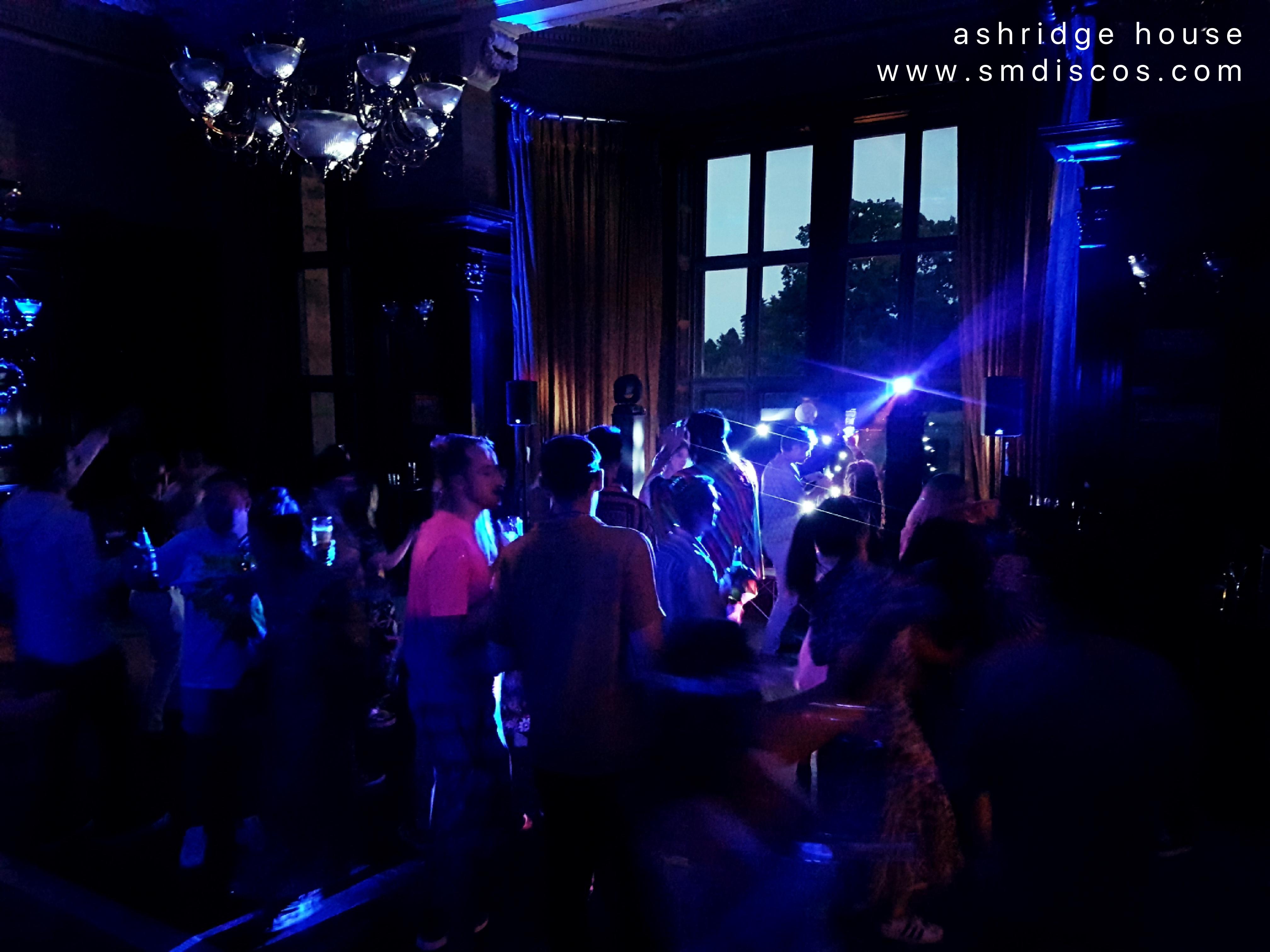 the dancefloor at ashridge house