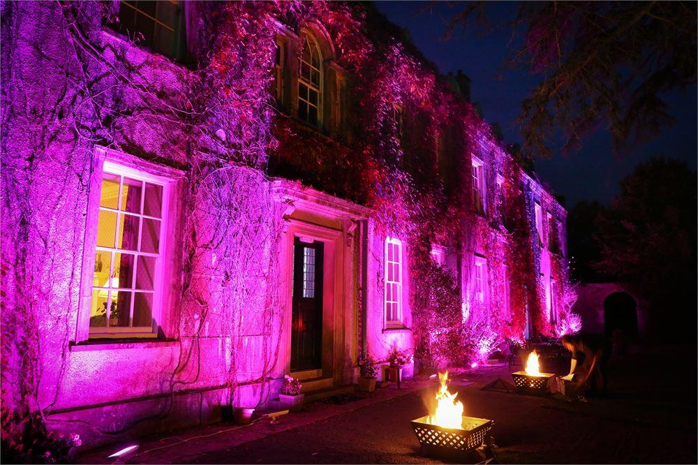 Outdoor uplighting Holbrook Manor