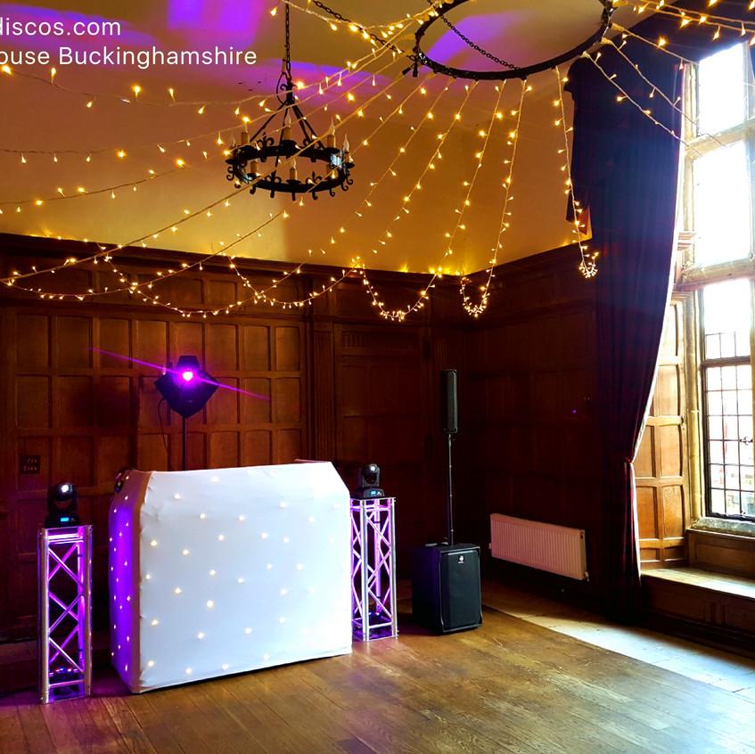 DJ set up at Dorton House