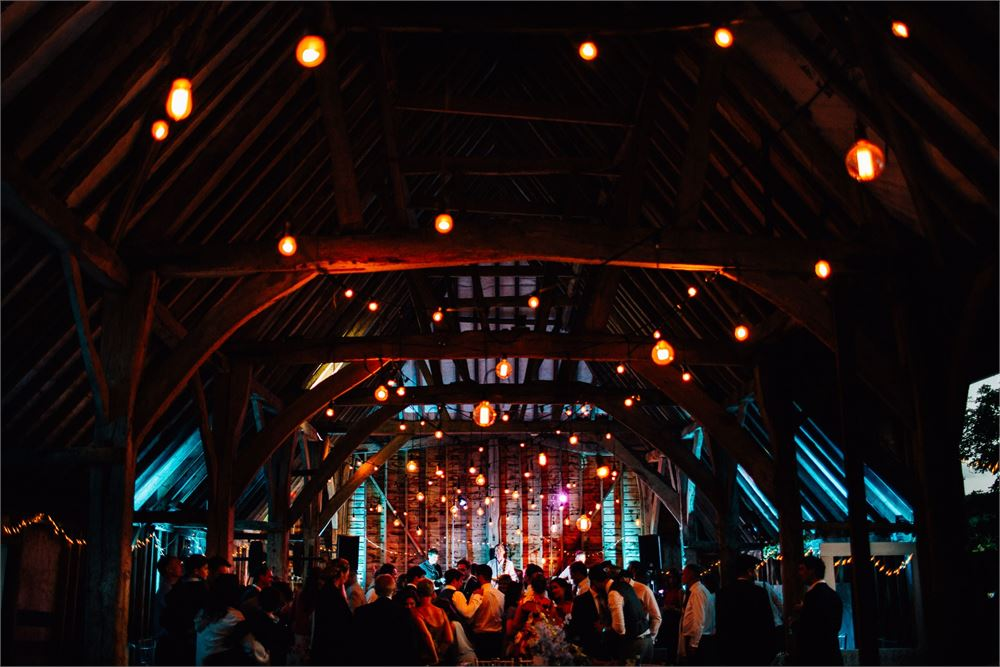 Uplighting at Gote Barn Sussex