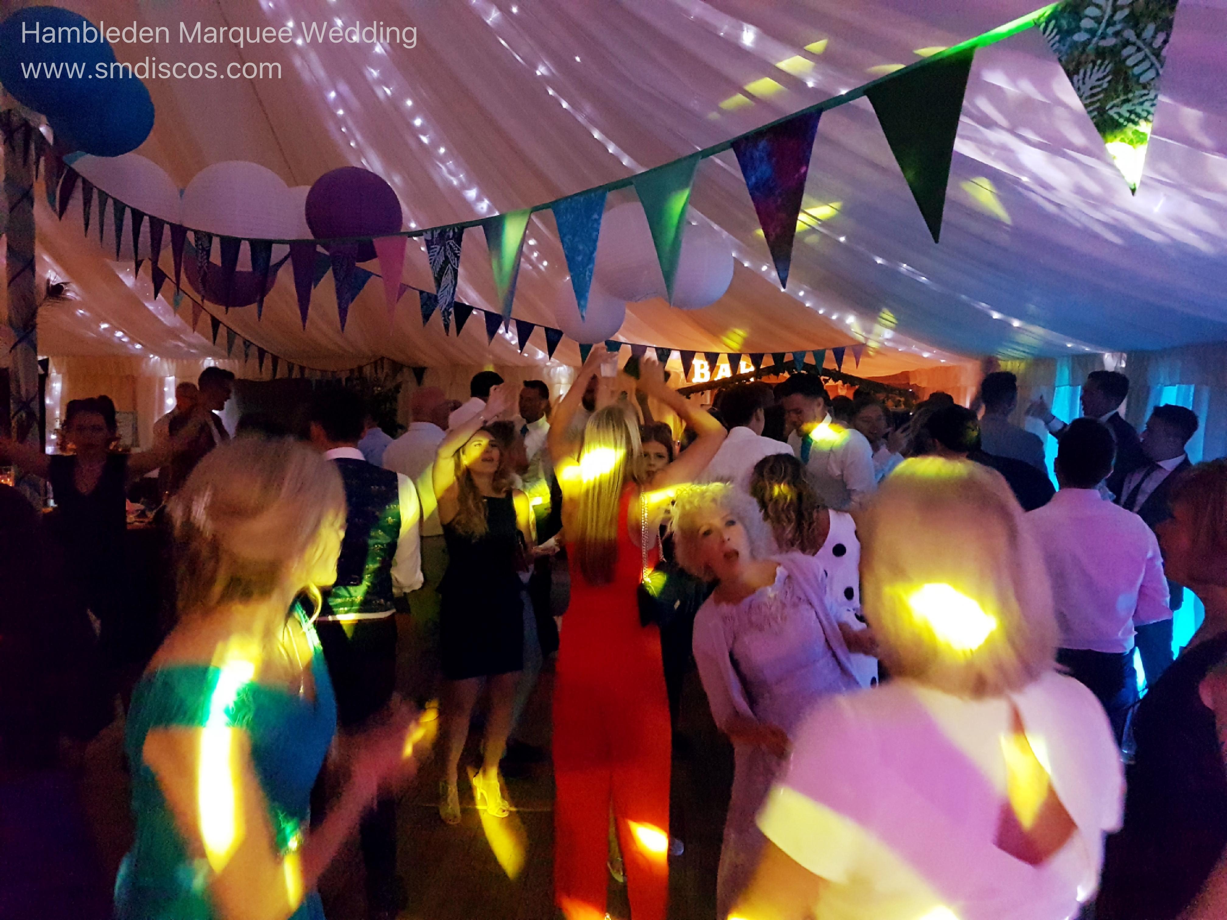 Wedding Disco at Hambleden Cricket Club.