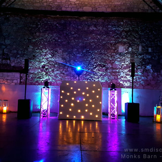 Wedding DJ set up at Monks Barn.jpg