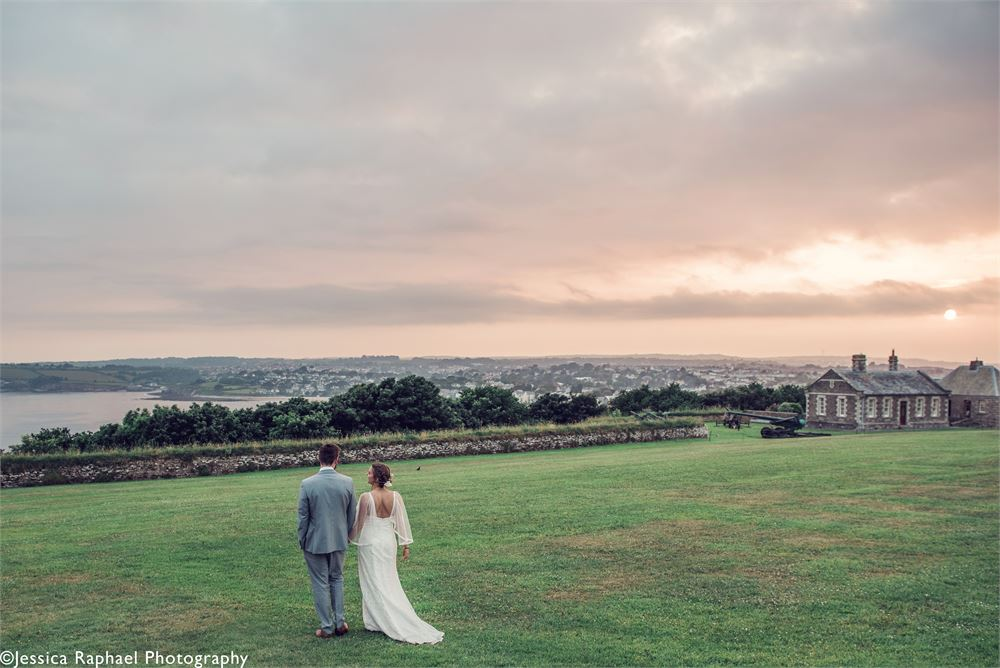 Pendennis Castle Cornwall wedding