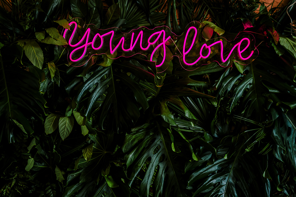 young love neon led wedding sign