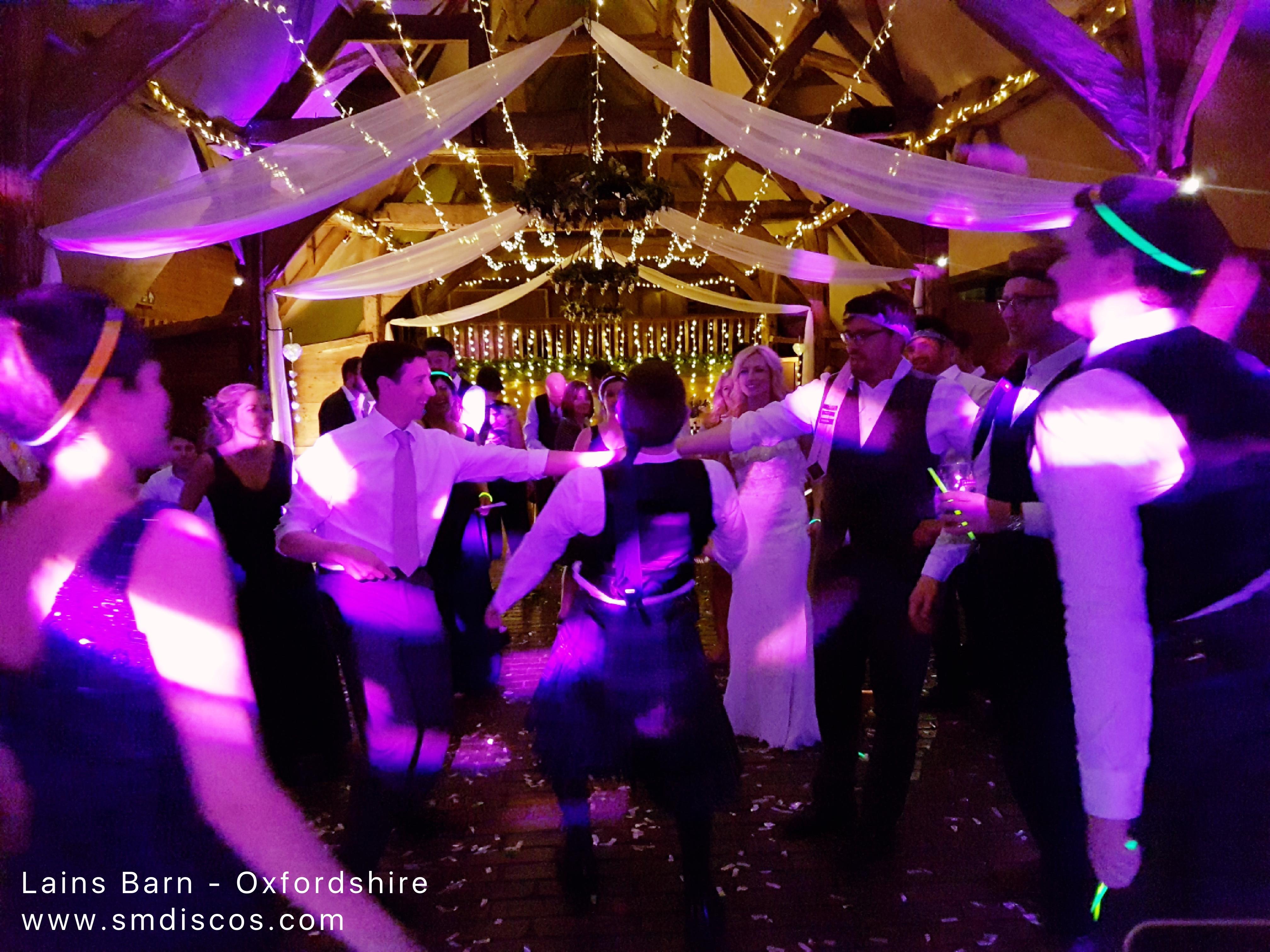 Lains Barn Wedding DJ Disco