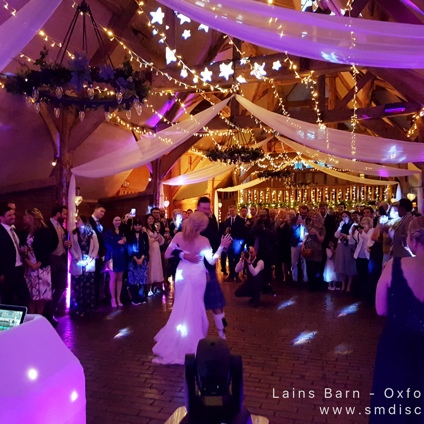 First dance Lains Barn