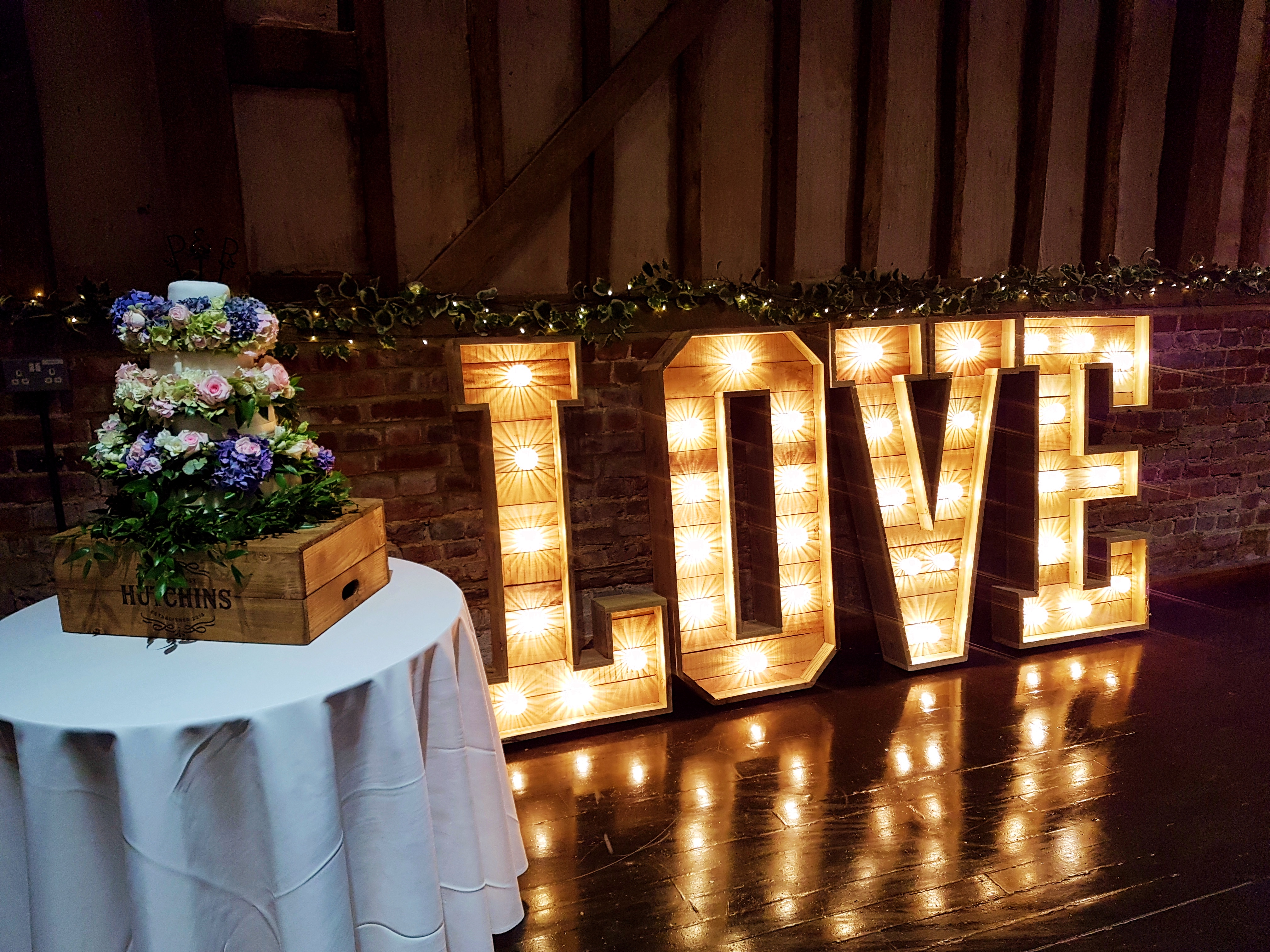 ss rustic wedding letters