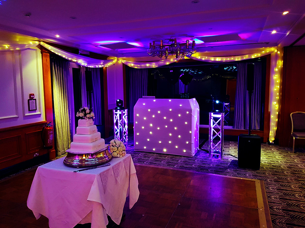 Wedding dj set up in Maidenhead