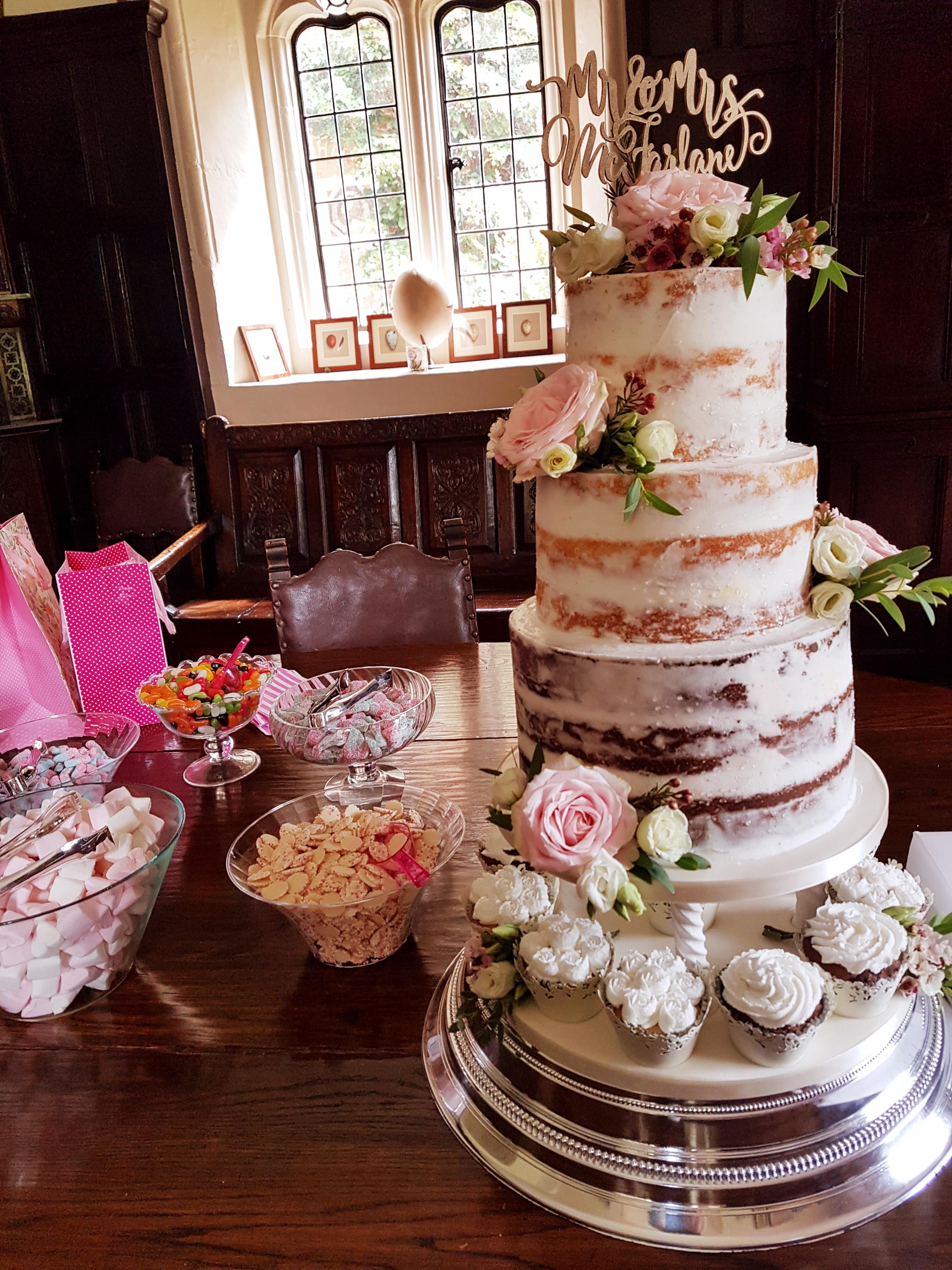 Wedding cake at Hampden House