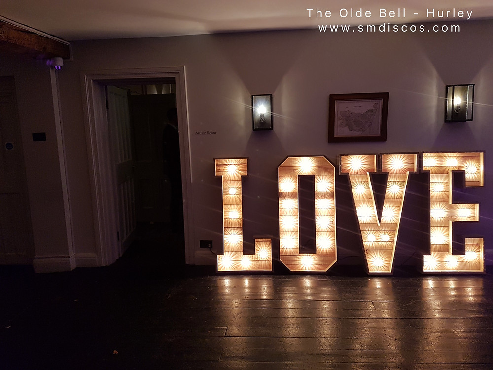 Wedding love letters at the Olde Bell Hurley