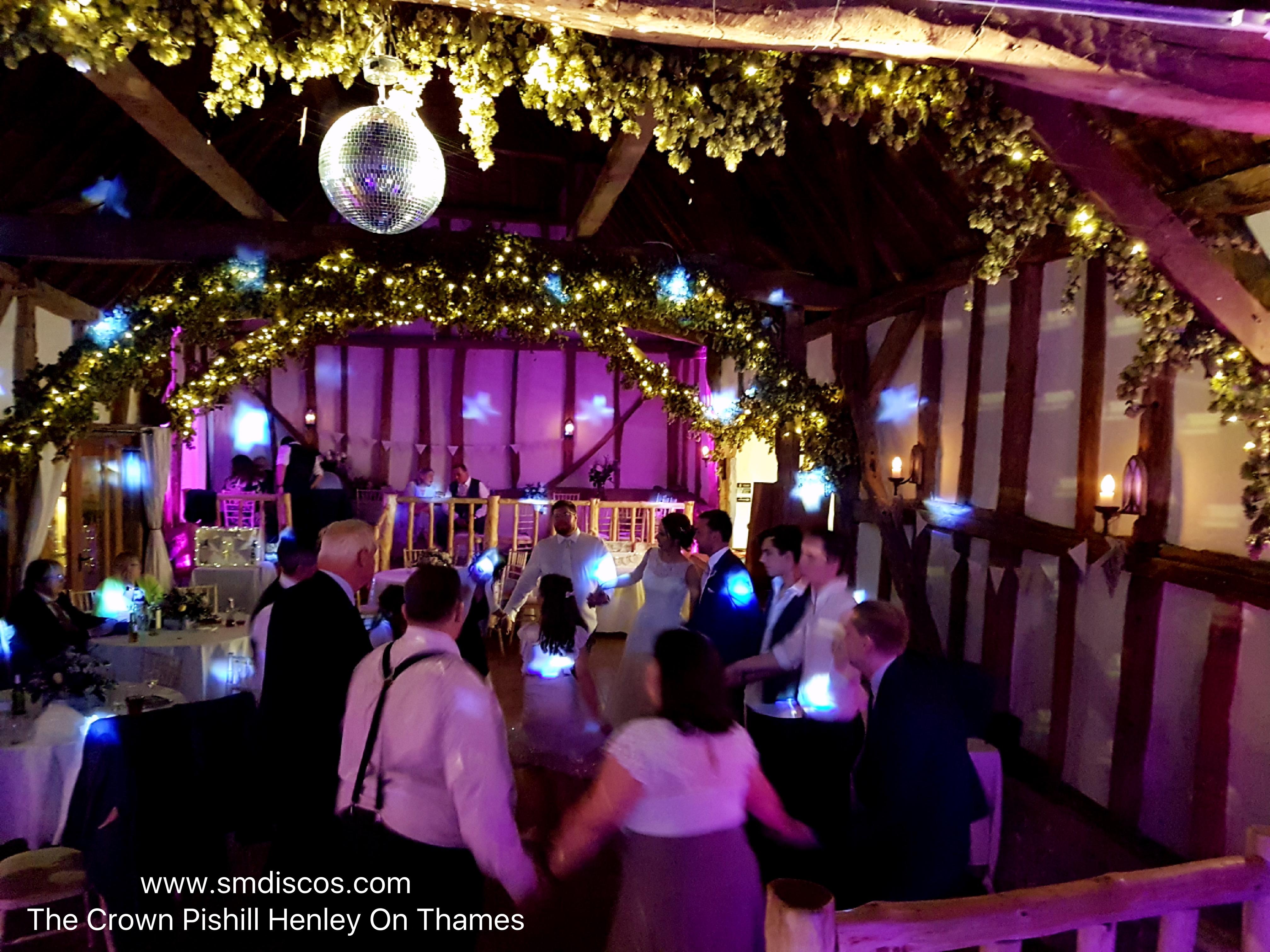 Wedding disco at the crown inn pishill