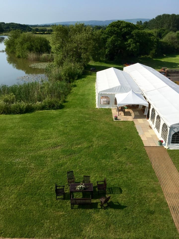 marquee wedding at Milwards House