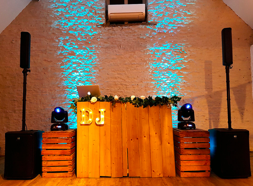 Rustic Barn Style DJ Set Up