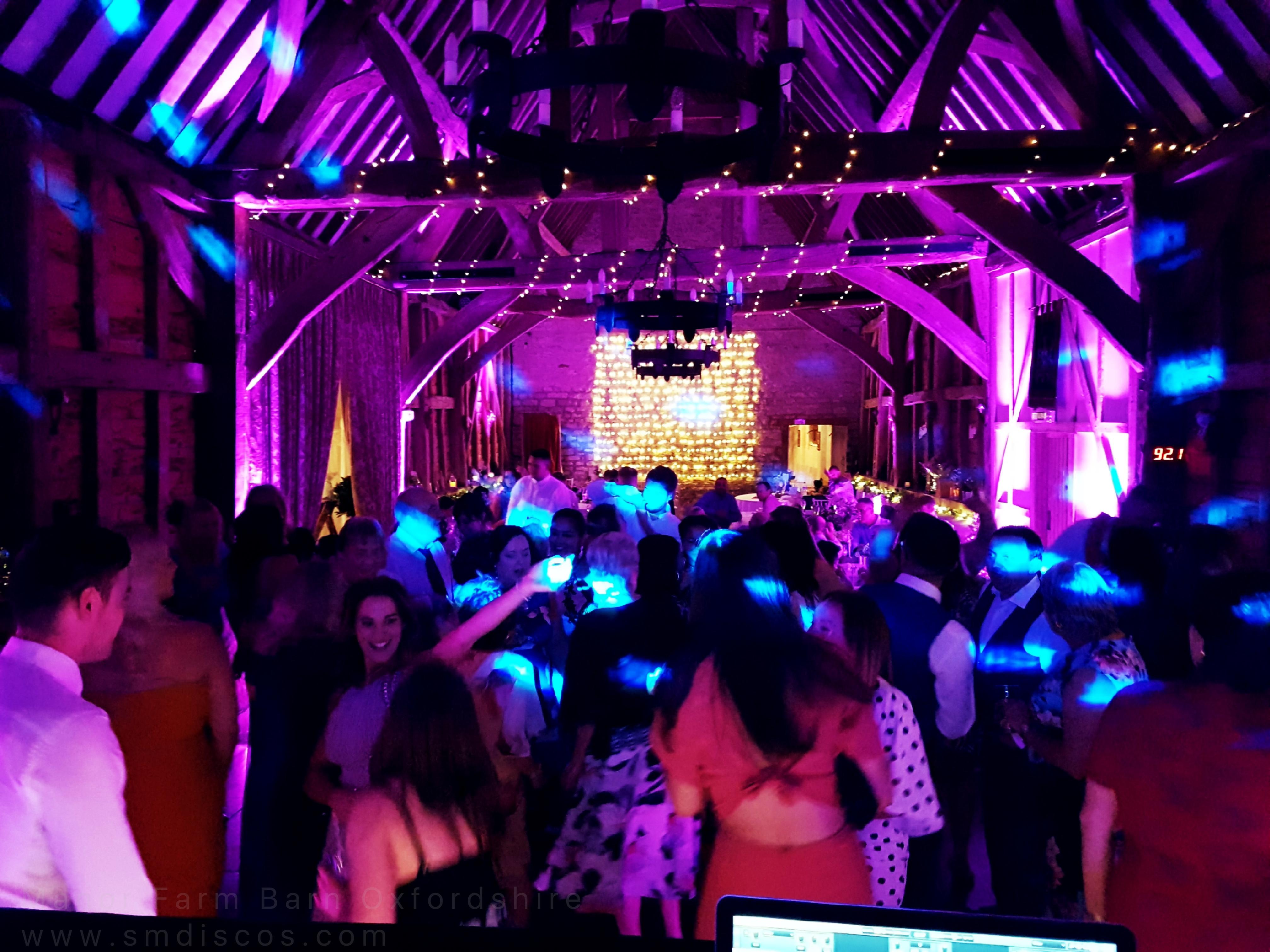 Oxford barn wedding disco