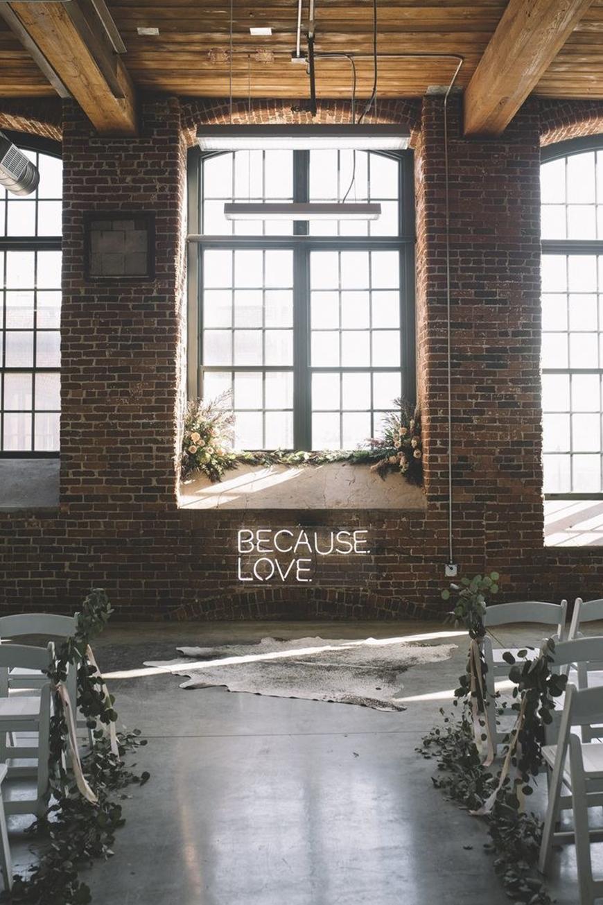 because love - wedding neon sign