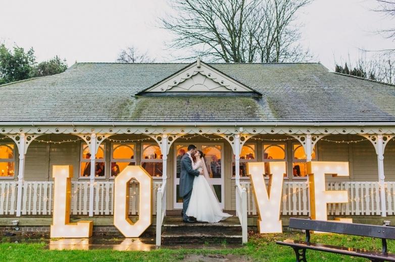 Light up love letters Dorset