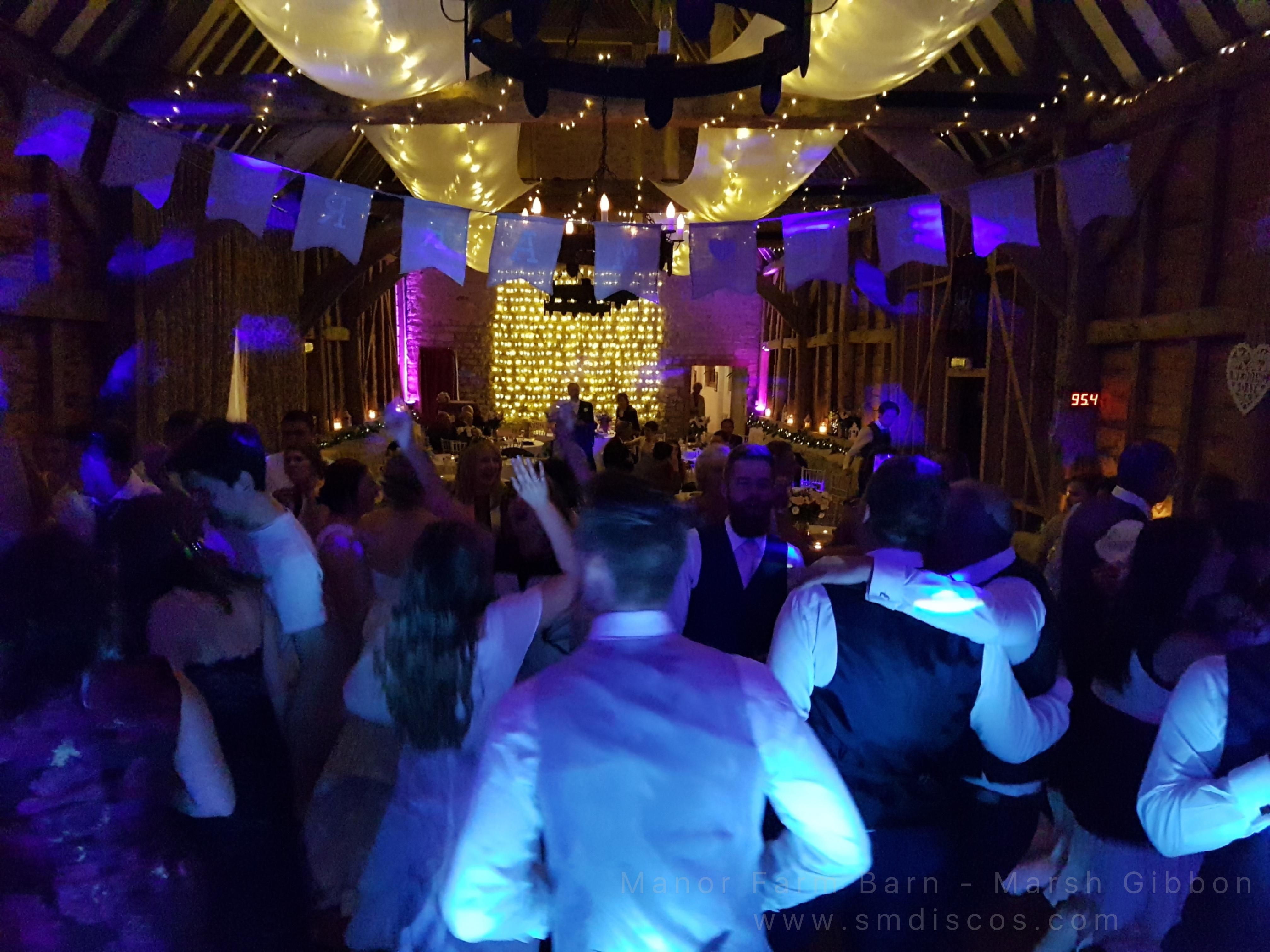 wedding disco manor farm barn
