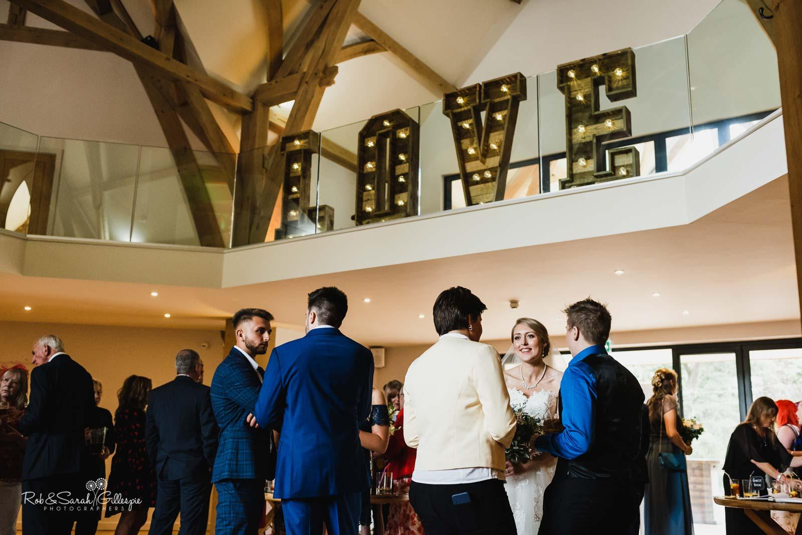 rustic love letters wedding hire warwick