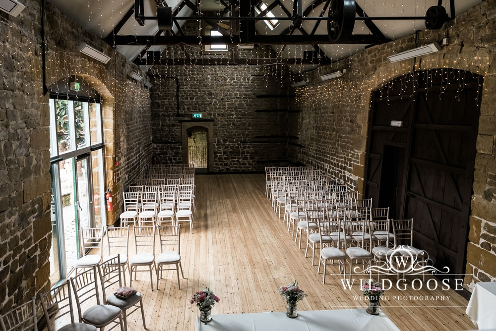 wedding day in Northampton The Barns at