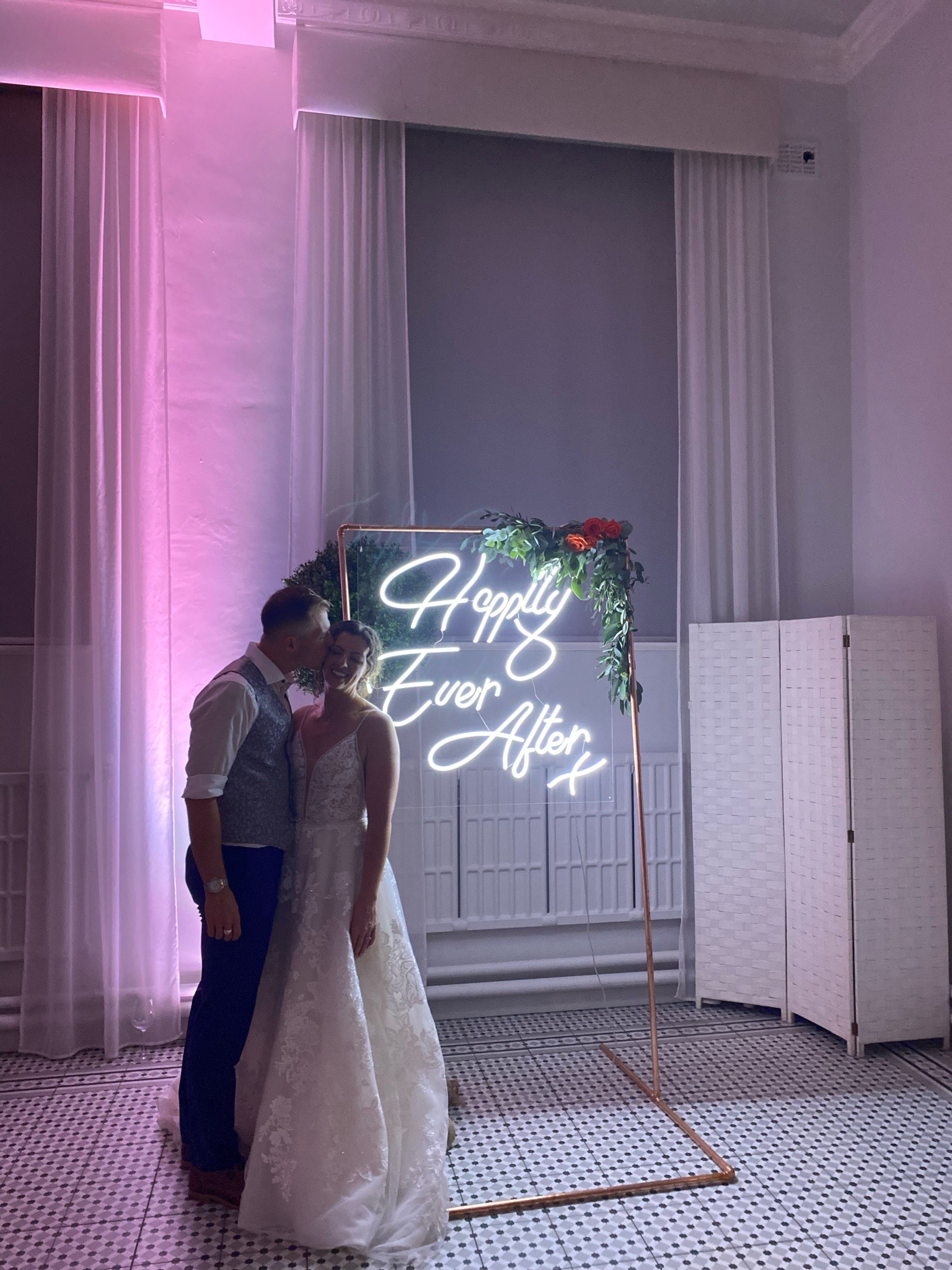Happily ever after neon sign signature moments