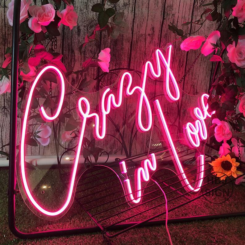 Crazy In Love Neon Wedding Sign