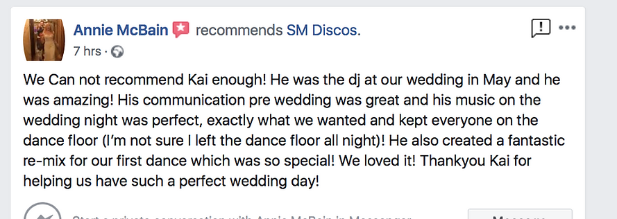 Lains Barn Wedding DJ