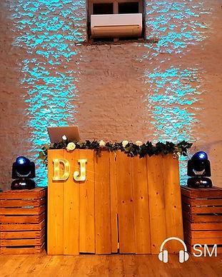 Rustic DJ Set up : Stratton Court Barn c