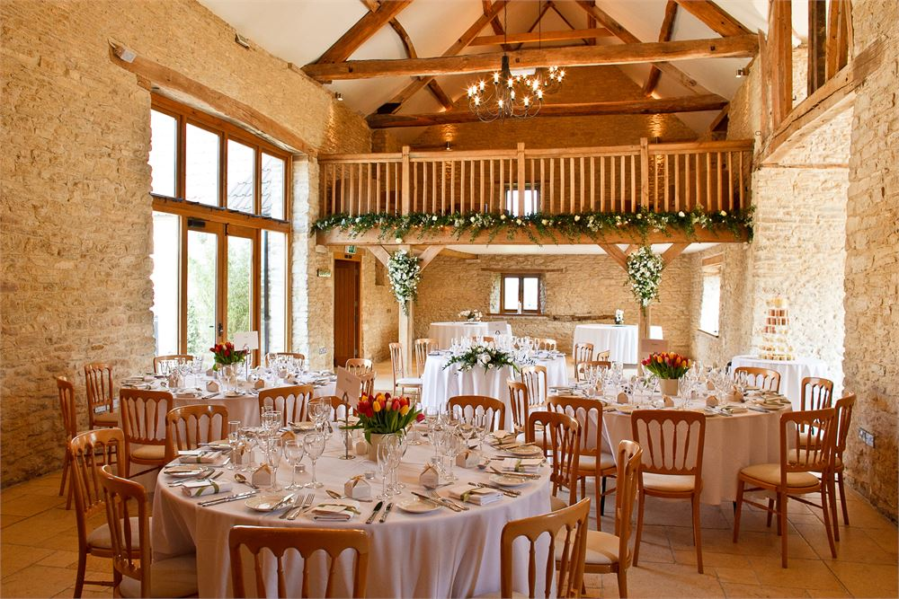 Wedding day at The Kingscote Barn