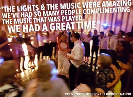 Lillibrooke Manor Wedding DJ + Light Up Love Letters / Rosy & Pat's Wedding