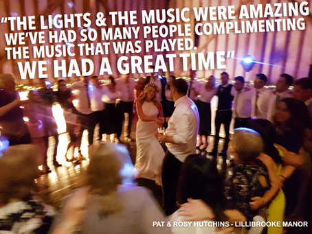 Lillibrooke Manor Wedding DJ + Light Up Love Letters / Rosy & Pat's Wedding