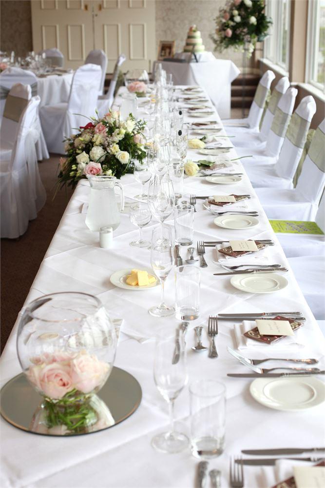 Wedding breakfast St Ives Harbour Hotel.