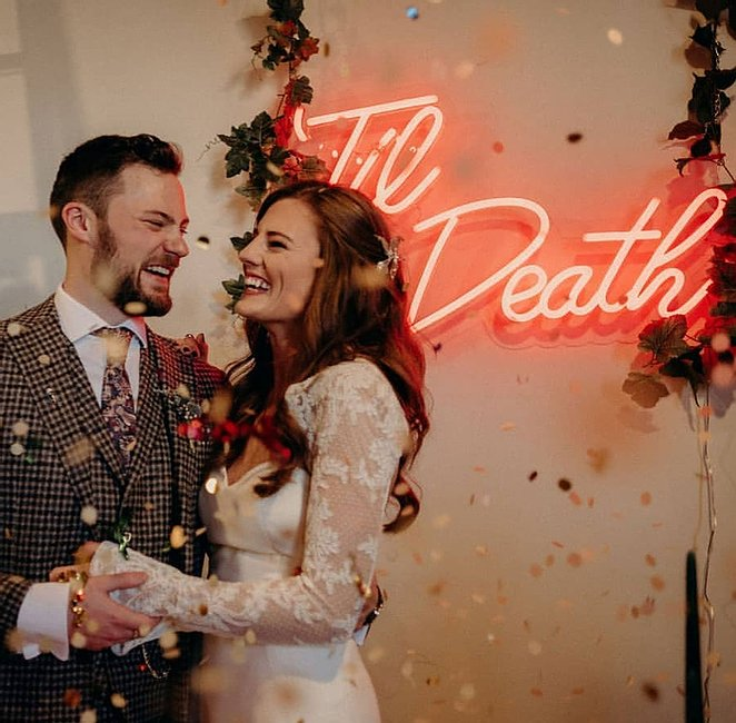 til death neon sign hire uk