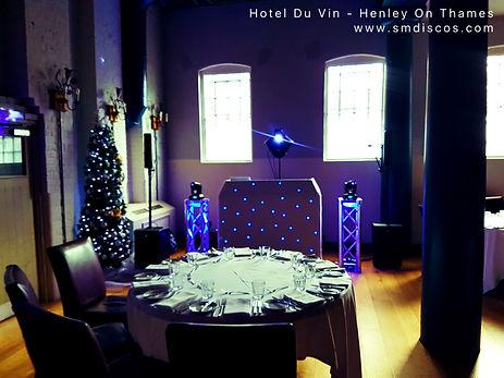 Wedding Christmas Party DJ Hotel Du Vin.