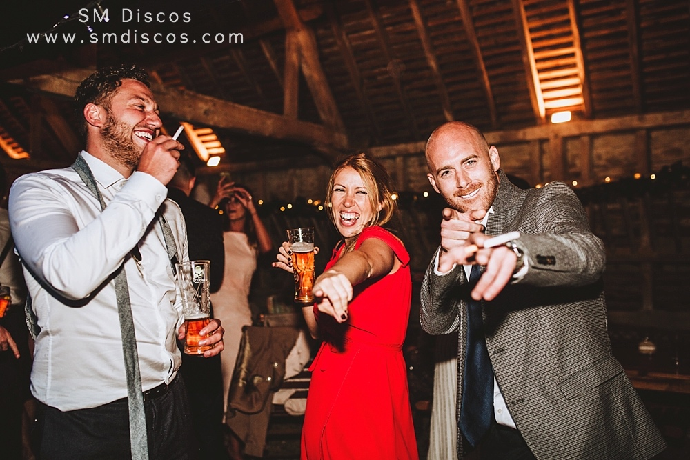 Lains Barn Wedding Disco Kate & Mike
