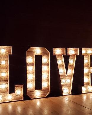 Wedding love letters at sheepdrove farm.