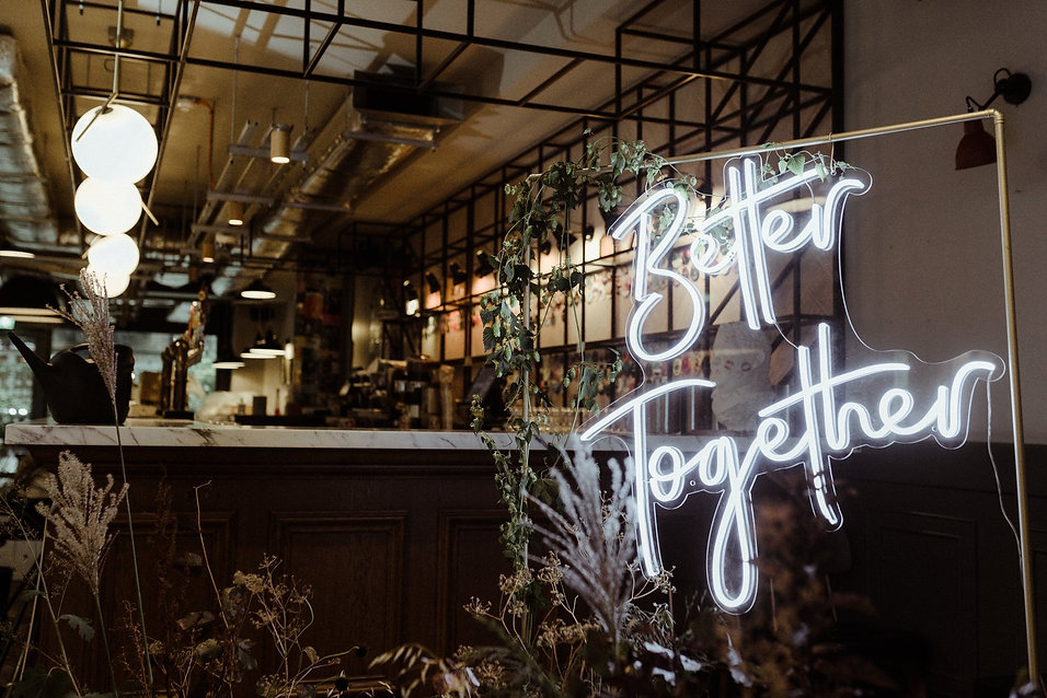 Better Together Neon Wedding Sign Marlow