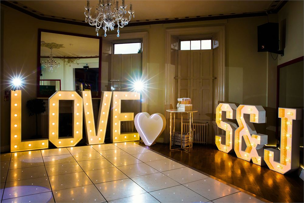Light up letters foryour wedding at Gosf