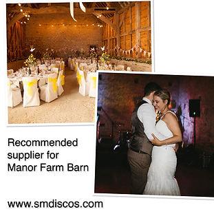 manor farm barn wedding dj oxford