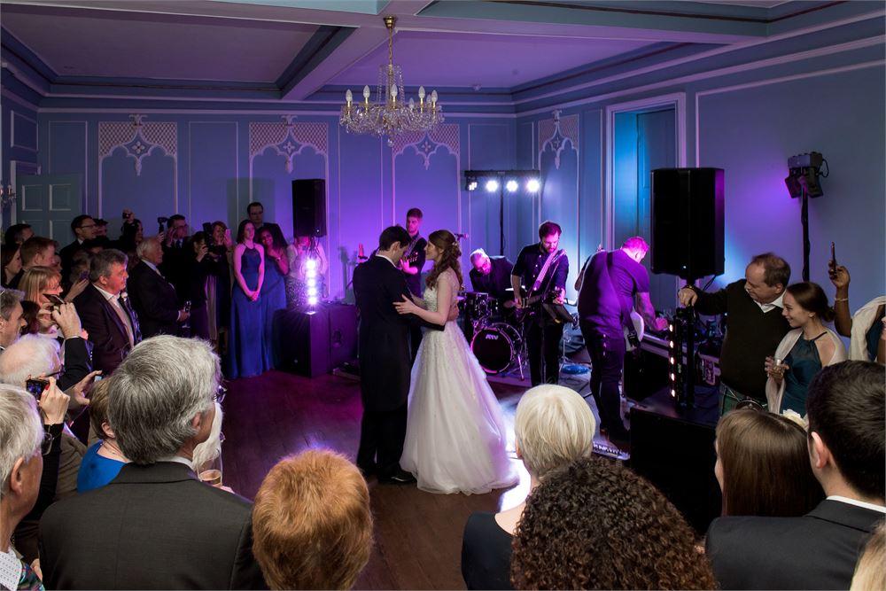 Wedding band hire at Hutton Hall