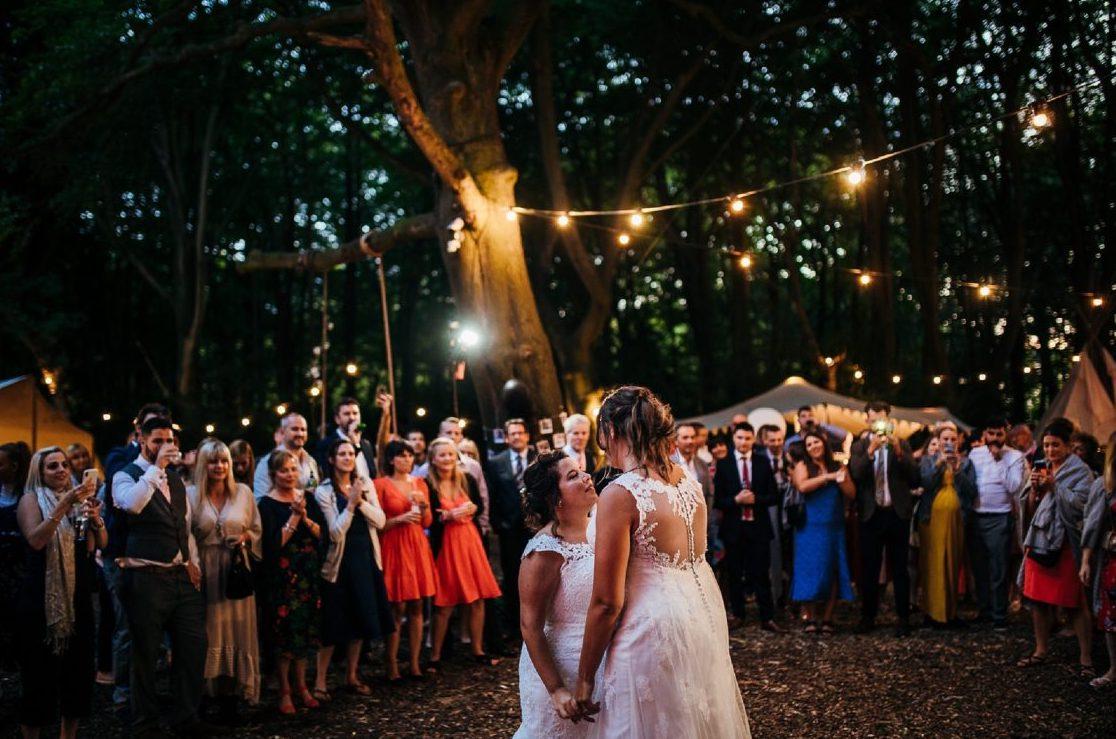 woodland wedding DJ Rustic