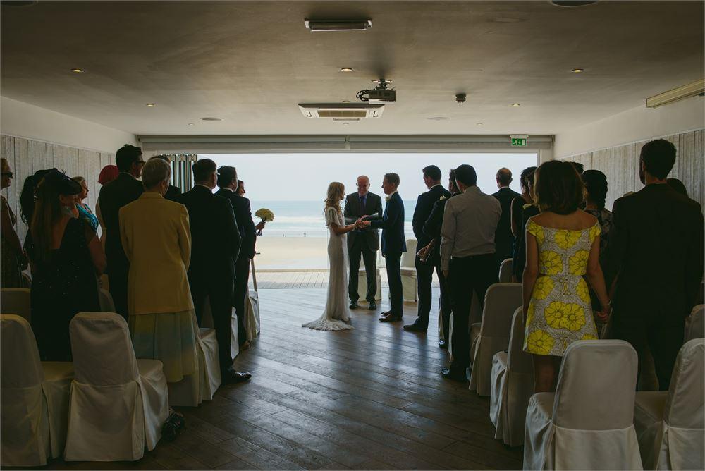 Wedding day at Watergate Bay Hotel