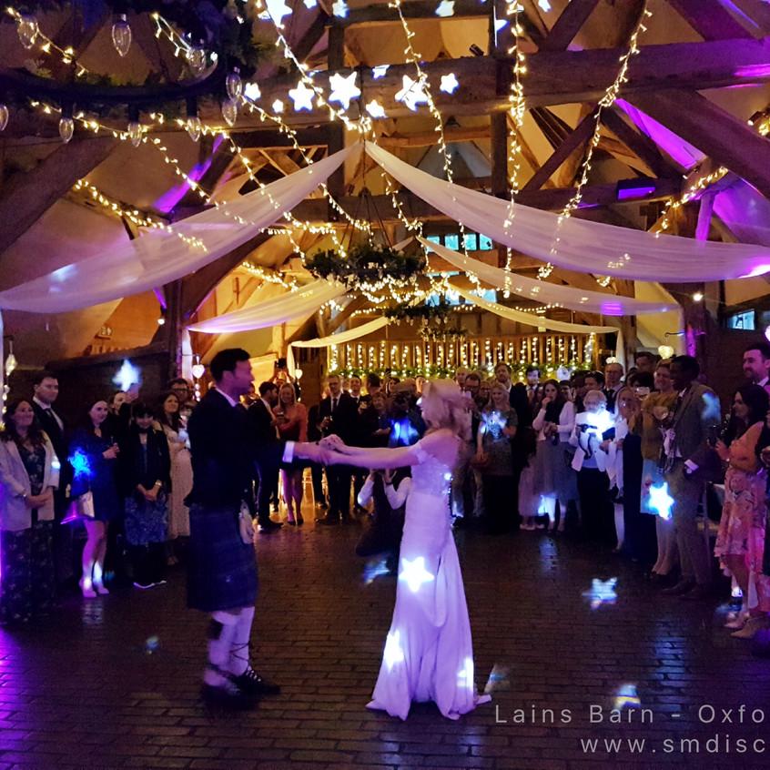 DJ Weddings at Lains Barn