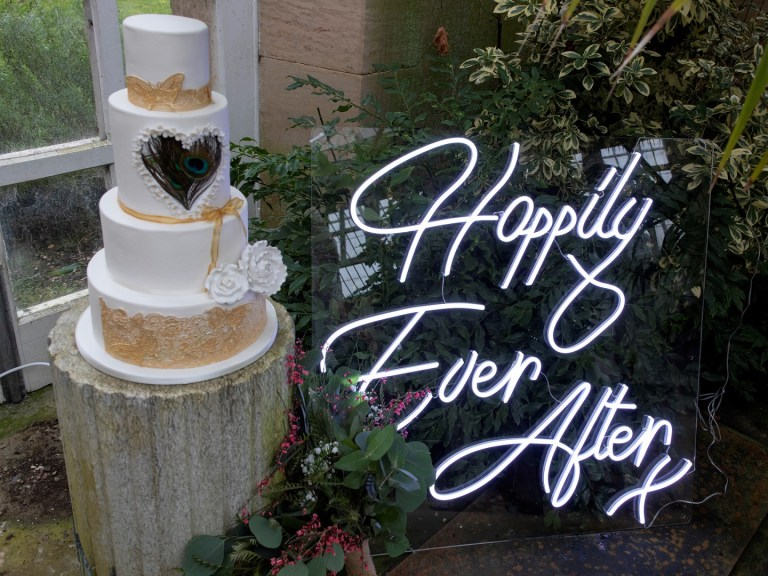 happily ever after wedding neon