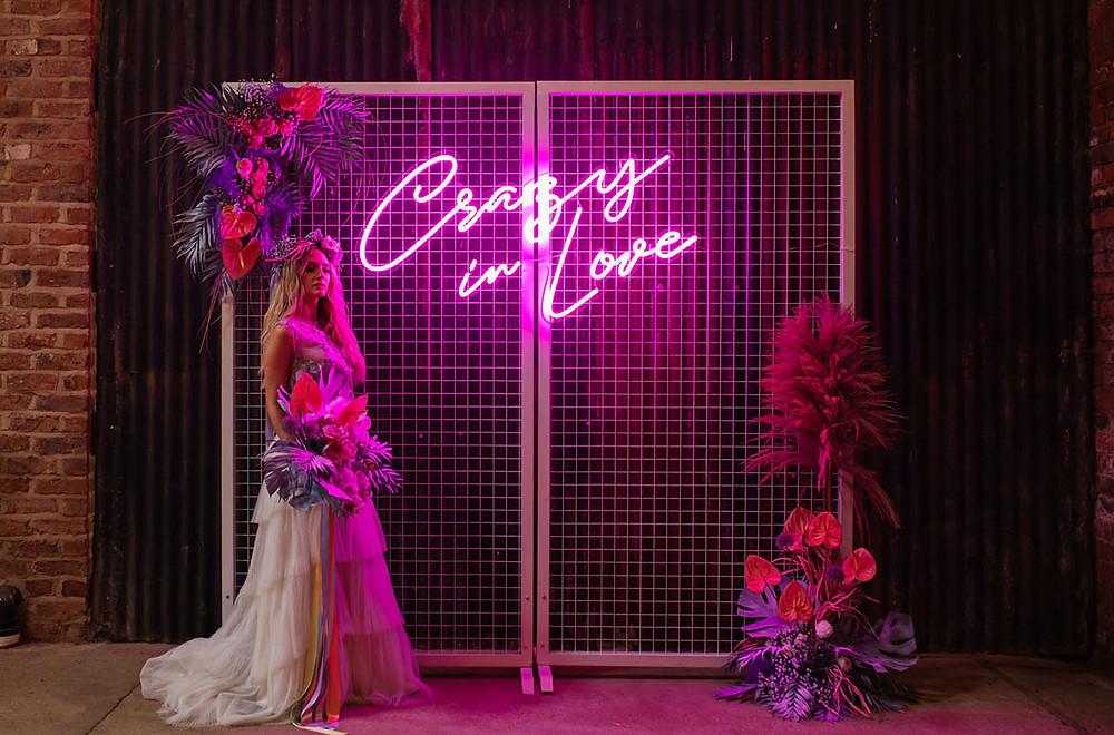 Neon wedding sign hire Berkshire
