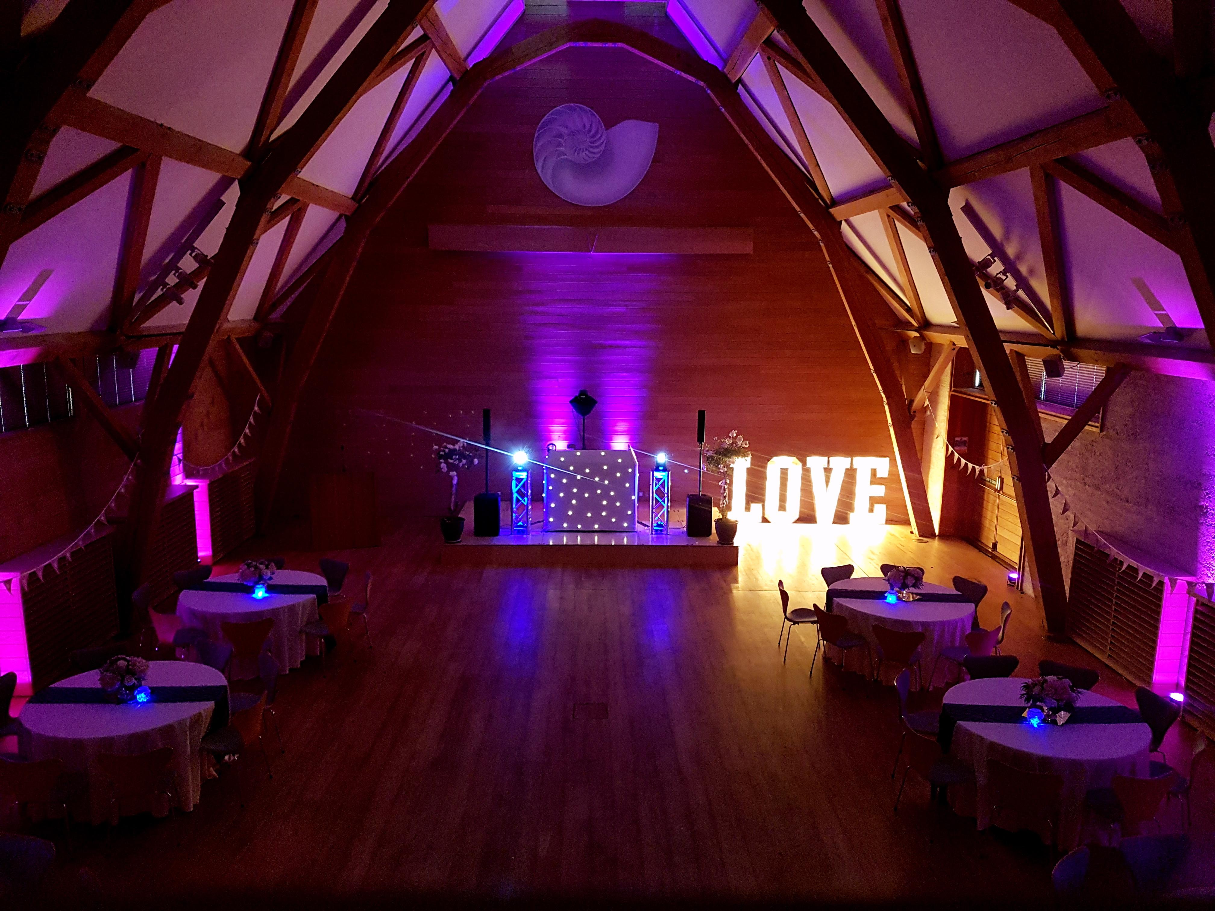 Oxford barn wedding DJ