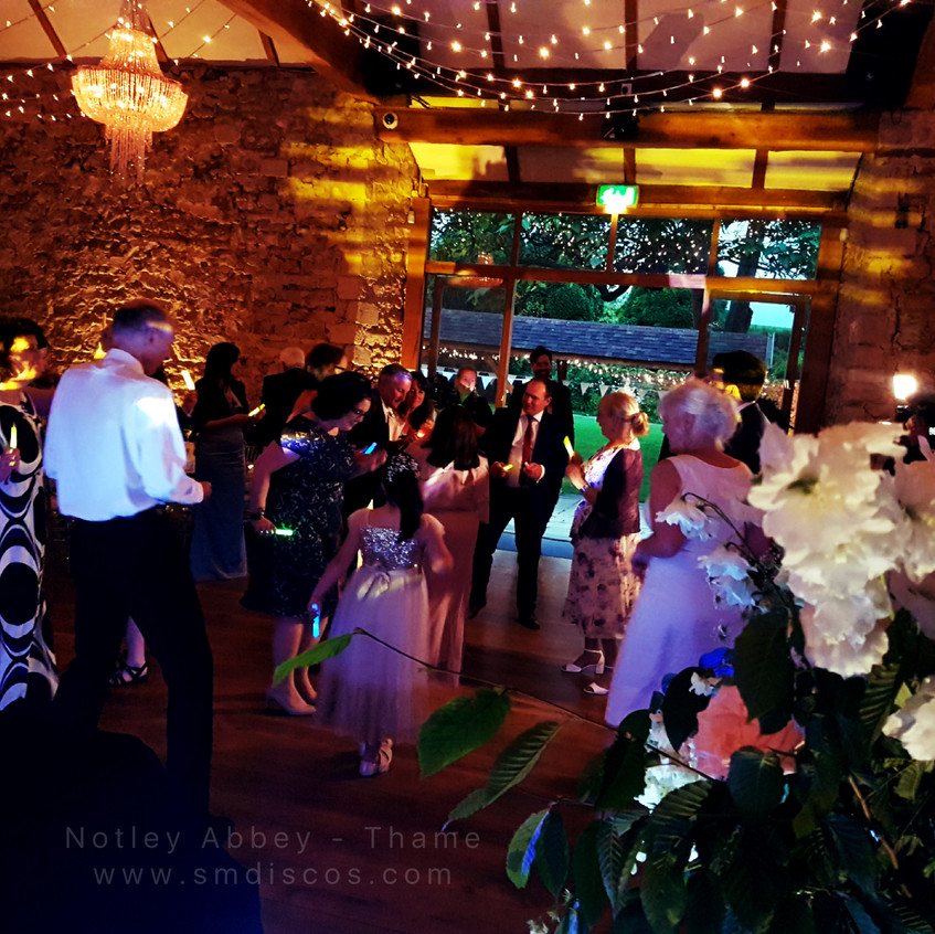 Wedding disco in full swing at Notley Abbey
