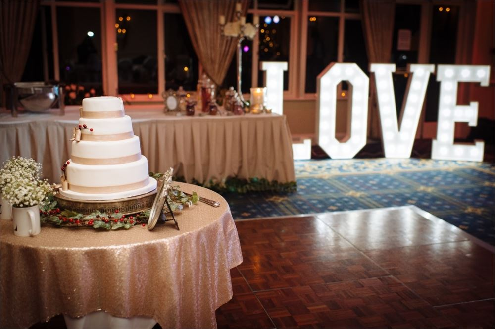 Light up letter hire at Deans Place
