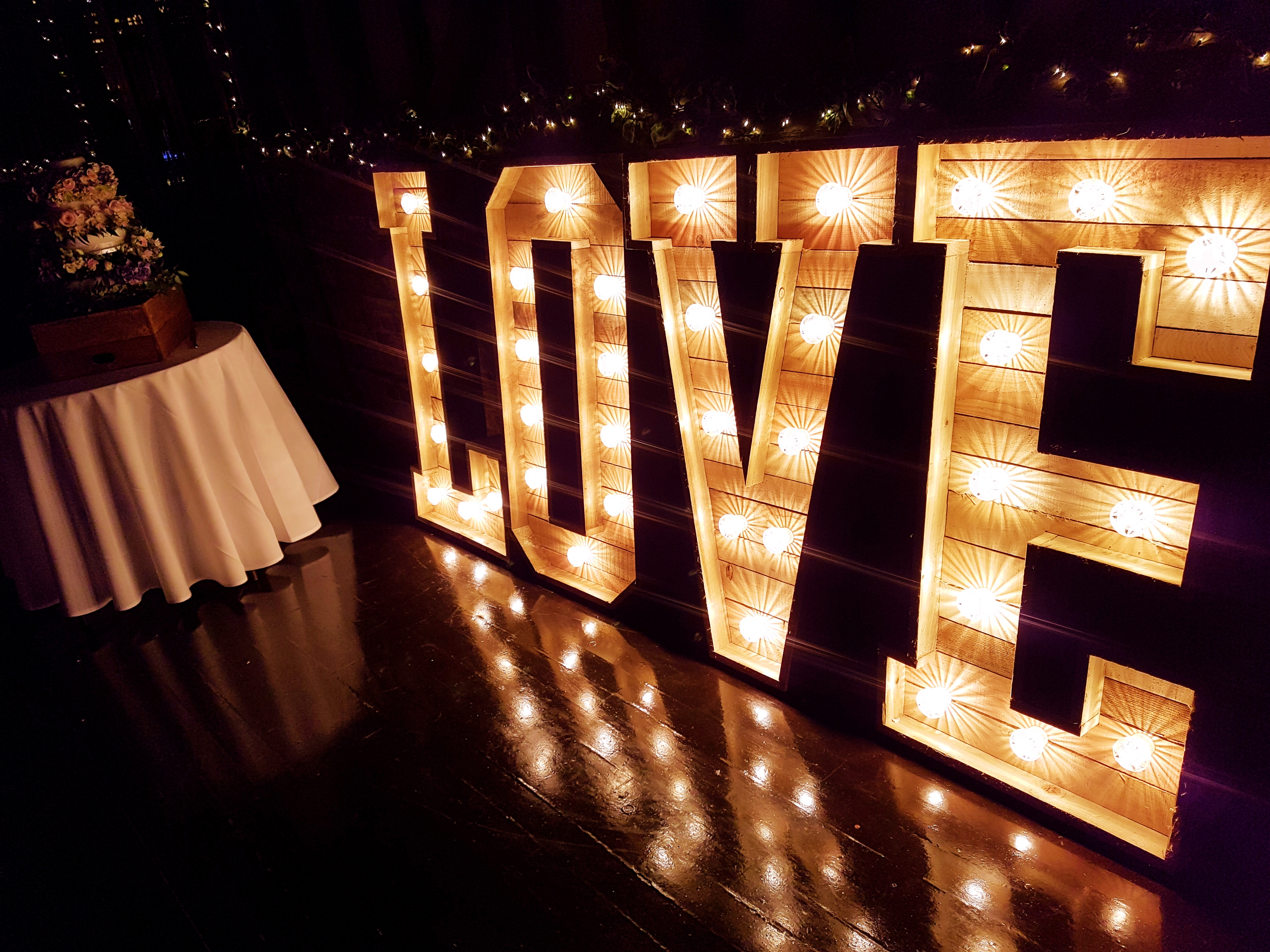 SS Light up love letter hire