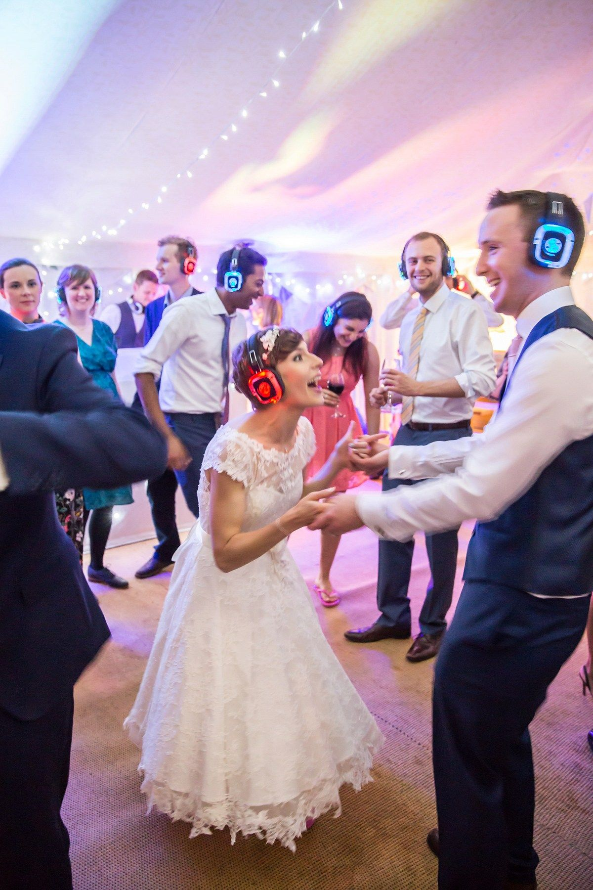 silent disco at your wedding